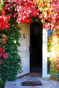 fall open door